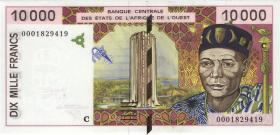 West-Afr.Staaten/West African States P.314Ci 10000 Francs 2000 (1)