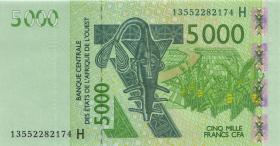 West-Afr.Staaten/West African States P.617Hj 5000 Francs 2013 Niger (1)