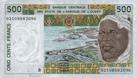 Benin P.210Bn 500 Francs 2002 (1)