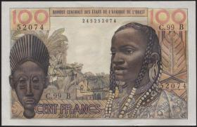 West-Afr.Staaten/West African States P.201Ba 100 Francs 1961 (1)