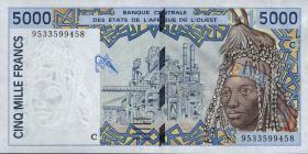 Burkina Faso P.313Cd 5000 Francs (1994) (1-)