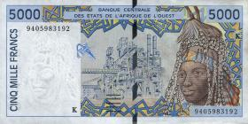 Senegal P.713K 5000 Francs 1994 (1-)