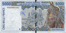 Senegal P.713K 5000 Francs 1994 (1-)