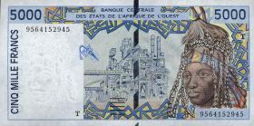 Togo P.813Td 5000 Francs (1995) (1)