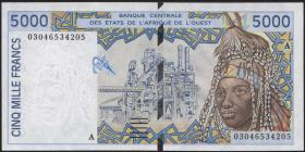 West-Afr.Staaten/West African States P.113Am 5000 Francs 2003
