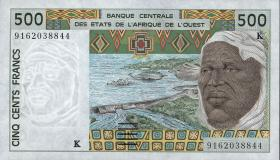 Senegal P.710Ka 500 Francs 1991 (1)