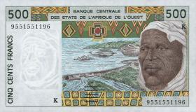 West-Afr.Staaten/West African States P.710Ke 500 Francs 1995 (1)