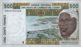 West-Afr.Staaten/West African States P.710Kf 500 Francs 1996 (1)