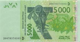 West-Afr.Staaten/West African States P.Neu 5.000 Francs 2020 (1)