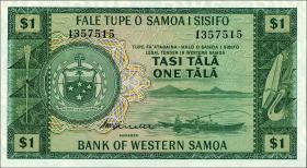 West Samoa P.16c 1 Tala (1967) (1)