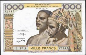 Elfenbeinküste / Ivory Coast P.103An 1000 Francs (1959-65) (1)