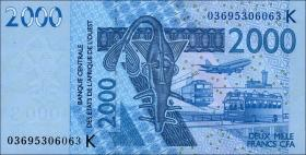West-Afr.Staaten/West African States P.716Ka 2000 Francs 2003 (1)