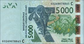 Burkina Faso P.317Ca 5000 Francs 2003