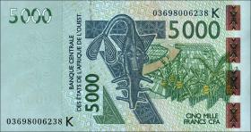 West-Afr.Staaten/West African States P.717Ka 5000 Francs 2003 (1)