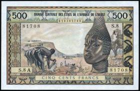 Elfenbeinküste / Ivory Coast P.102Aa 500 Francs (2/1)