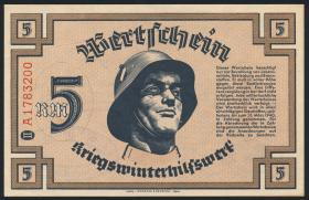 WHW Wertschein 5 Reichsmark 1939 Serie II (1)