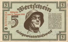 WHW-14 Winterhilfswerk 5 Reichsmark 1939/40 Reihe II (2)