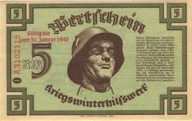 WHW-11 Winterhilfswerk 5 Reichsmark 1939/40 mit Überdruck (1)