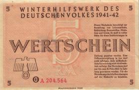 WHW-35 Winterhilfswerk 5 Reichsmark 1941/42 (1-)