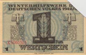 WHW-37 Winterhilfswerk 1 Reichsmark 1942/43 entwertet (1)