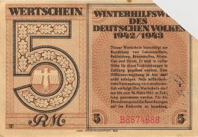 WHW-38 Winterhilfswerk 5 Reichsmark 1942/43 (1-)