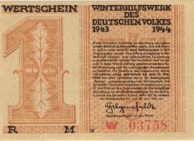 WHW-40 Winterhilfswerk 1 Reichsmark 1943/44 (1)