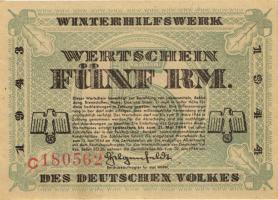 WHW-41 Winterhilfswerk 5 Reichsmark 1943/44 (1)