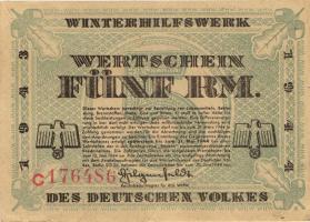 WHW-41 Winterhilfswerk 5 Reichsmark 1943/44 (2)