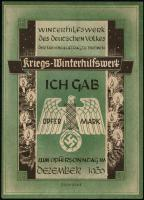 WHW Bremen 1 Opfermark Dezember 1939 (1-)
