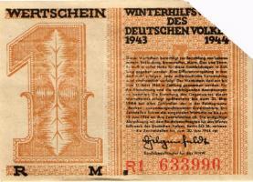 WHW Wertschein 1 Reichsmark 1943/44 (1-)