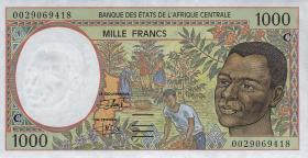 Zentral-Afrikanische-Staaten / Central African States P.102Cb 1000 Fr. 1994 (1)
