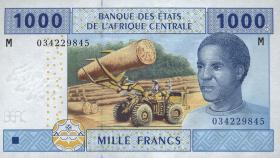 Zentralafrikanische Republik/Central African Republic  P.307M 1000 Fr. 2002 (1)