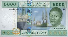 Zentral-Afrikanische-Staaten / Central African States P.209Ua 5000 Fr. 2002 (1)