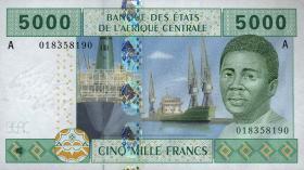 Gabun / Gabon P.409A 5000 Fr. 2002 (2)