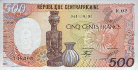 Zentral Afr. Republik/Central A. R. P.014c 500 Fr. 1987 (1)