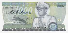 Zaire P.31 1000 Zaires 1985 (1)