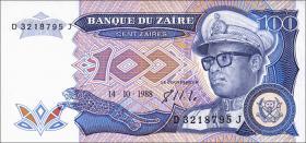 Zaire P.33a 100 Zaires 1988 (1)
