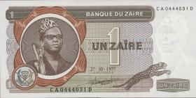 Zaire P.18b 1 Zaire 1977 (1)
