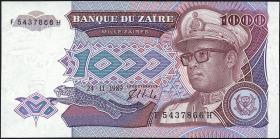 Zaire P.35 1000 Zaires 1989 (1)