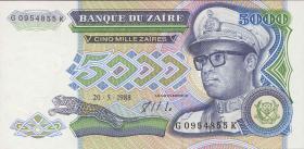 Zaire P.37b 5000 Zaires 1988 (1)