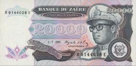 Zaire P.39a 20000 Zaires 1991 (1)