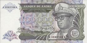 Zaire P.41a 100.000 Zaires 1992 (1)