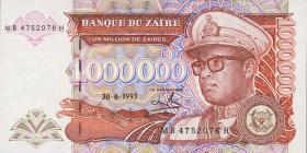 Zaire P.45b 1.000.000 Zaires 30.6.1993 (1)