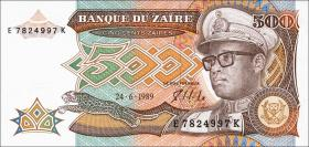 Zaire P.34a 500 Zaires 1989 (1)