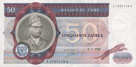 Zaire P.25a 50 Zaires 1980 (1)