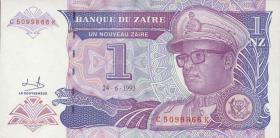 Zaire P.52 1 Nouveau Zaire 1993 (1)