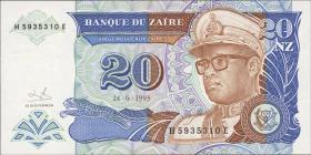 Zaire P.56 20 Nouveau Zaires 1993 (1)