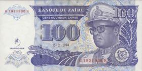 Zaire P.60 100 Nouveau Zaires 1994 (1)