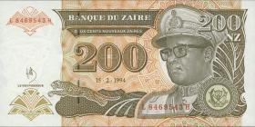 Zaire P.62a 200 Nouveau Zaires 1994 (1)