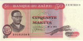 Zaire P.16a 50 Makuta 30.6.1973 (1)